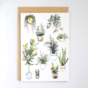 Favourite House Plants Card