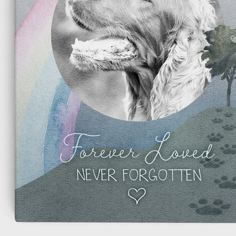 'Forever Loved, Never Forgotten' - Memorial, Watercolor