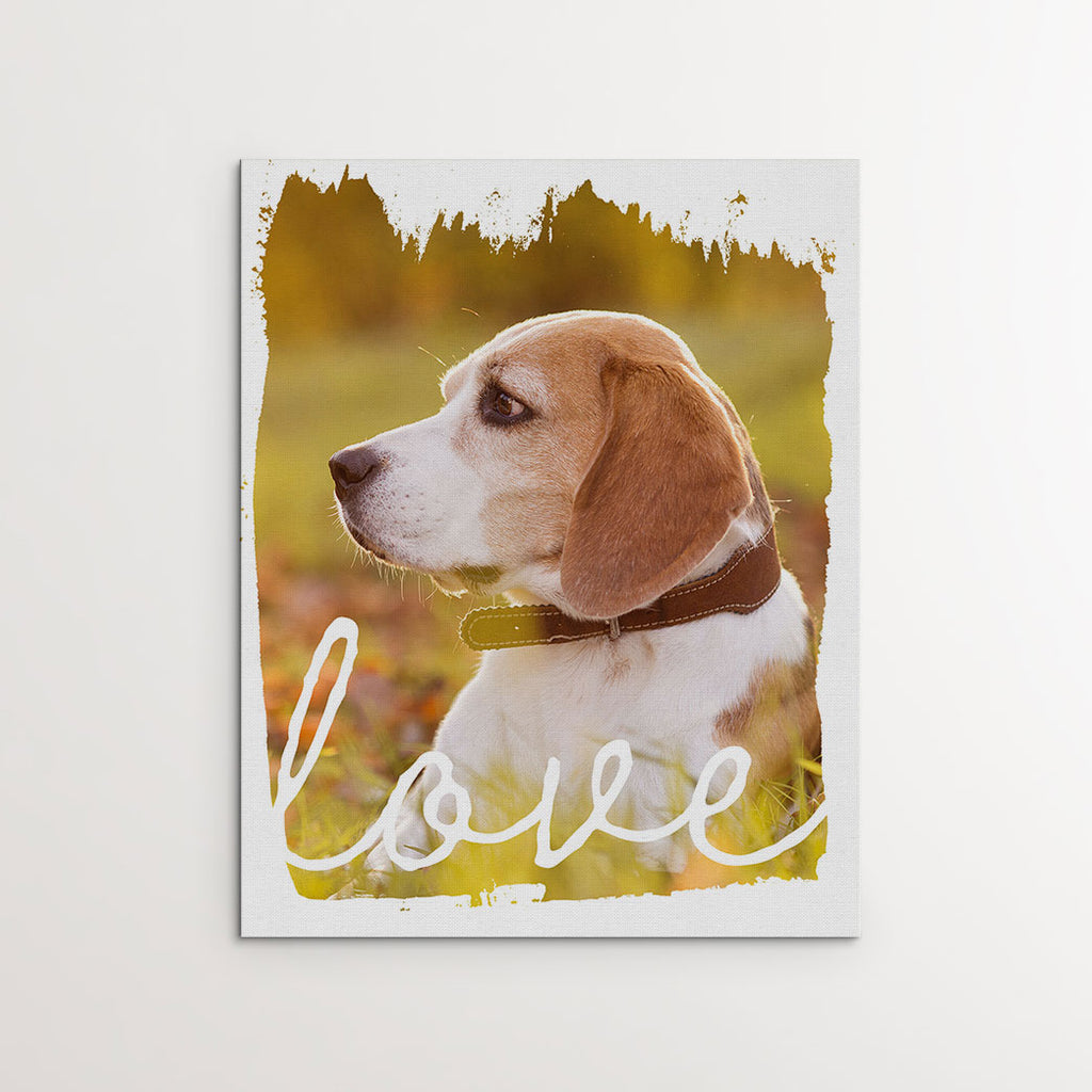 'Painted Love' - Personalized Photo Canvas- FureverTrue