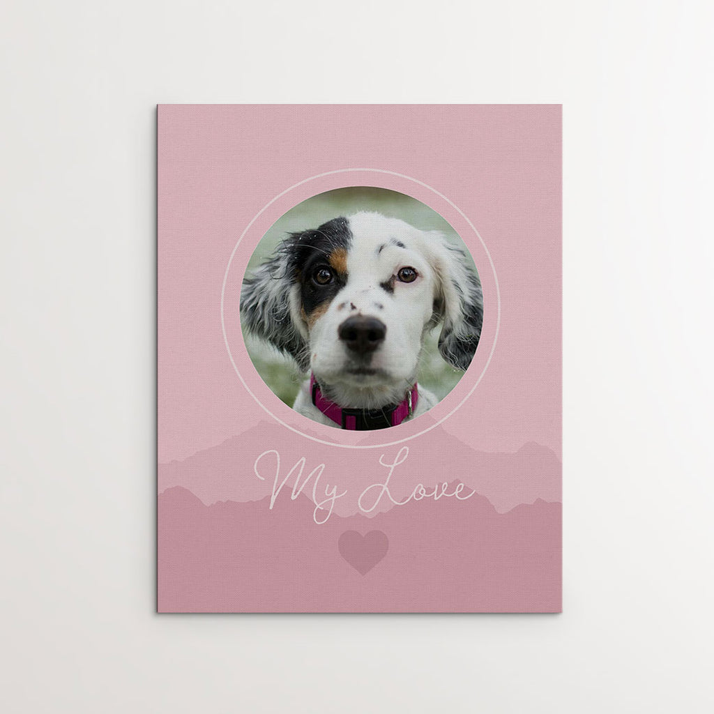 'My Love', Pink - Personalized Photo Canvas- FureverTrue