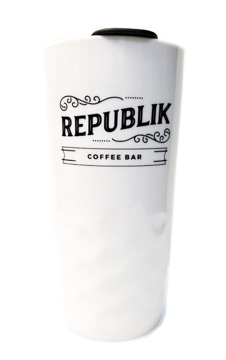 RCB White Ceramic Tumbler