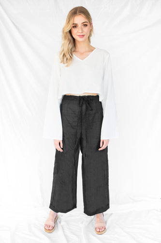 Ethical Silk Flare Pants