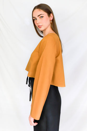Mustard Ethical Long Sleeved Crop