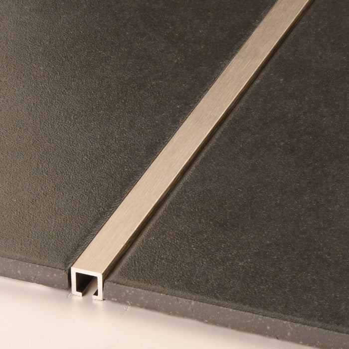 10mm X 10mm Stainless Steel Effect Box Listello - BFS434