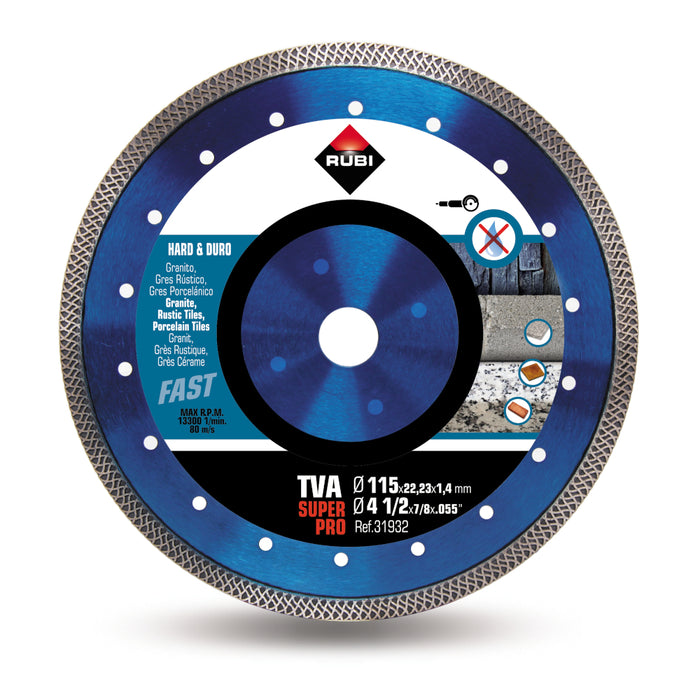 115mm TURBO VIPER - TVA hard materials diamond blade - 31932