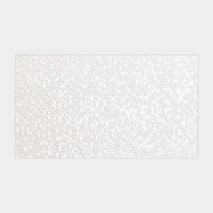 £51.67 /sqm - Porcelanosa Cubica Blanco - 25x44.3cm Décor Wall Tiles