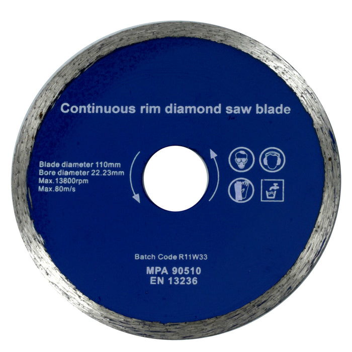 Diamond Spare Blade 110mm X 22.23mm - TRB452