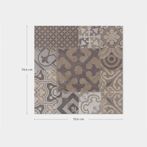 Porcelanosa Dover Antique - 59.6x59.6cm Patterned Floor Tiles
