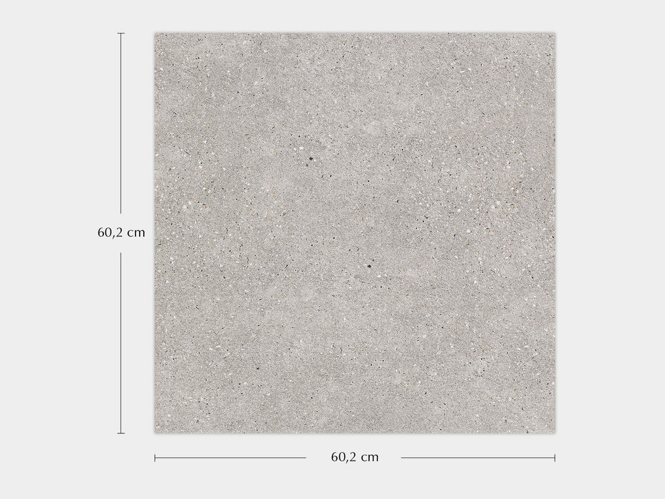 £69.86 /sqm - Porcelanosa Bottega Acero - 60.2x60.2cm Wall & Floor Tile