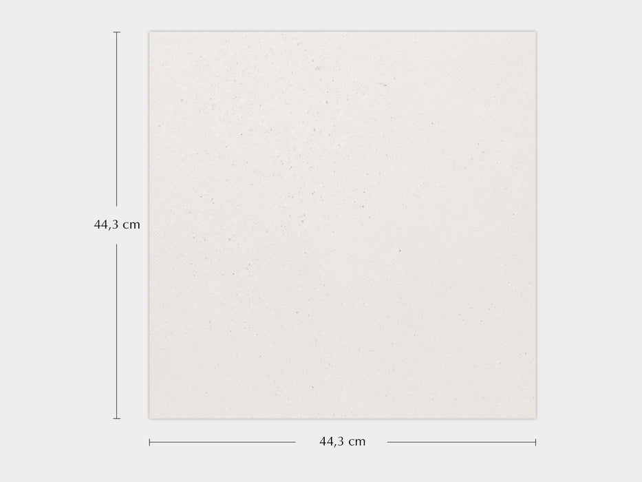 £54.29 /sqm - Porcelanosa Bottega White - 44.3x44.3cm Wall & Floor Tile