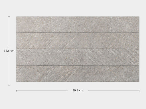 Porcelanosa Spiga Bottega Acero - 31.6x59.2cm Feature Wall Tile