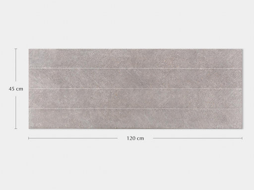 Porcelanosa Spiga Bottega Acero - 45x120cm Feature Wall Tile