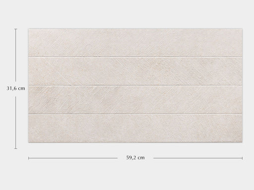 Porcelanosa Spiga Bottega Caliza - 31.6x59.2cm Feature Wall Tile