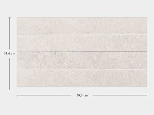 Porcelanosa Spiga Bottega White - 31.6x59.2cm Feature Wall Tile