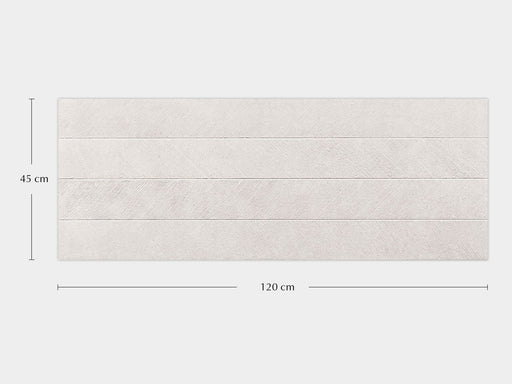 Porcelanosa Spiga Bottega White - 45x120cm Feature Wall Tile