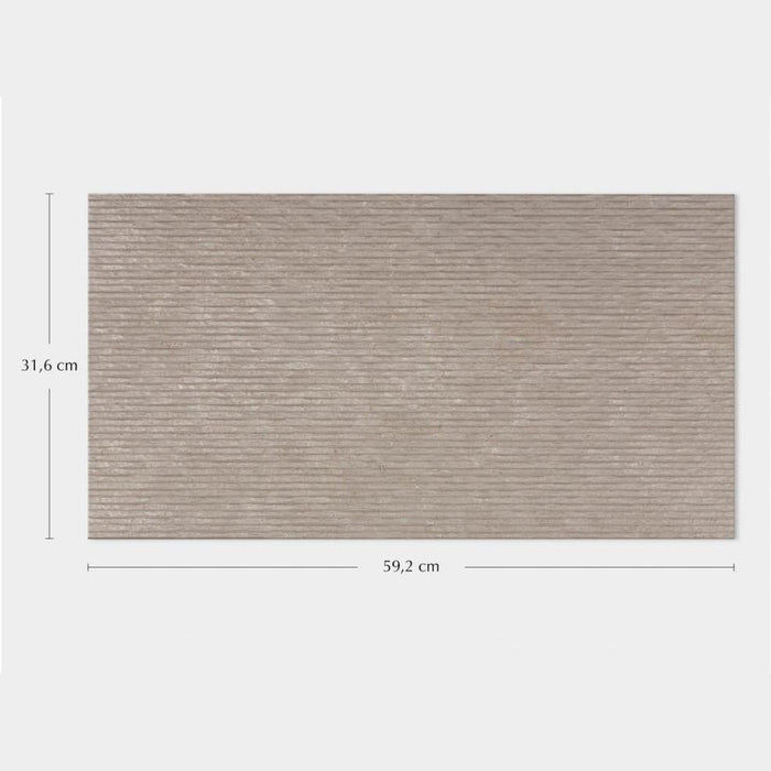 Porcelanosa Rodano Caliza Lineal Décor - 31.6x59.2cm Wall Tiles