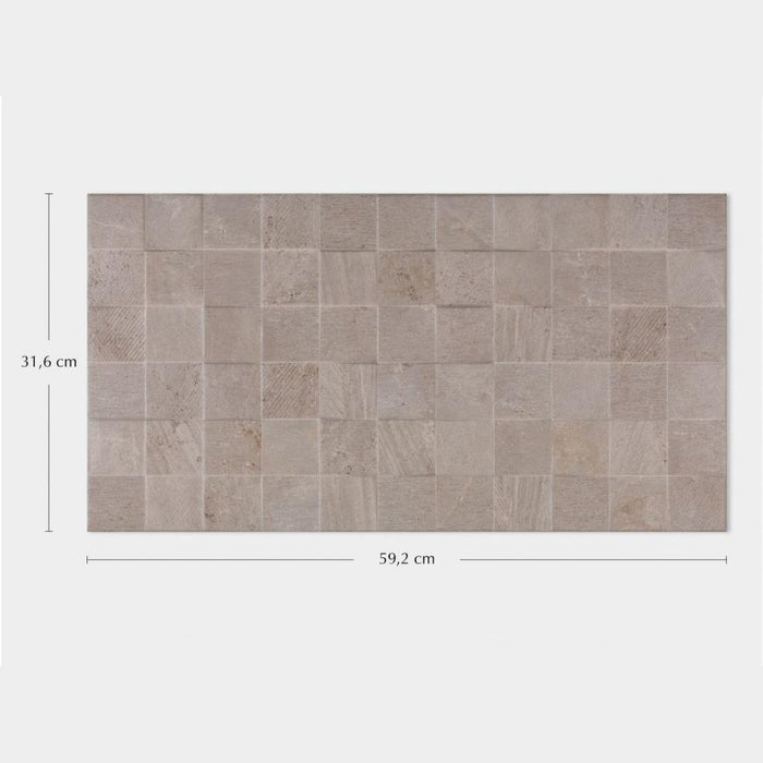 Porcelanosa Rodano Caliza Mosaico Décor - 31.6x59.2cm Wall Tiles