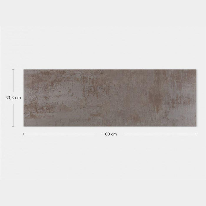 Porcelanosa Ruggine Aluminio - 33.3x100cm Wall Tile