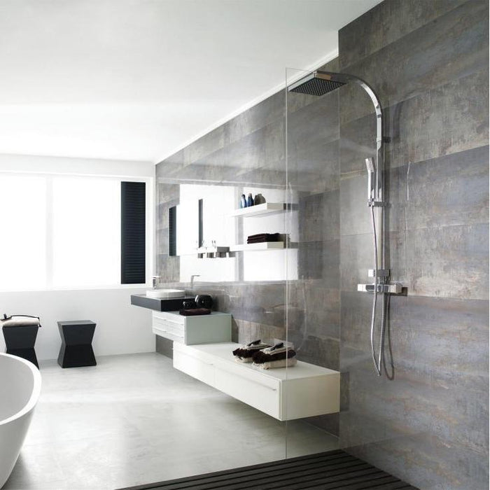 £51.99 /sqm - Porcelanosa Shine Dark - 33.3x59.2cm - Gloss Wall Tiles