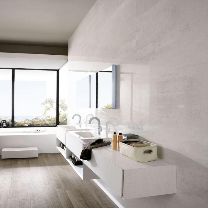 £51.99 /sqm - Porcelanosa Shine Platino - 33.3x59.2cm - Gloss Wall Tiles