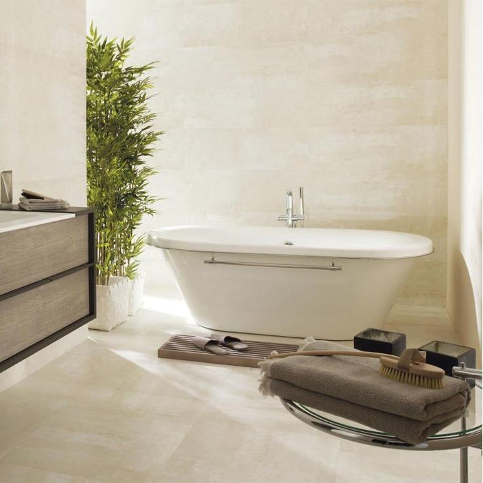 £69.82 /sqm - Porcelanosa Shine Titanio - 33.3x100cm - Gloss Wall Tiles
