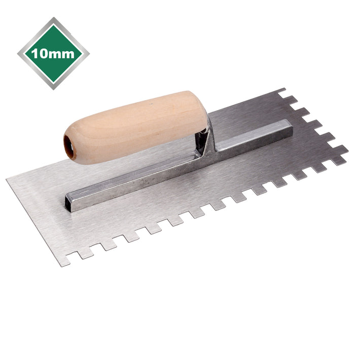 10mm High Carbon Steel Square Notched Trowel - TNT704