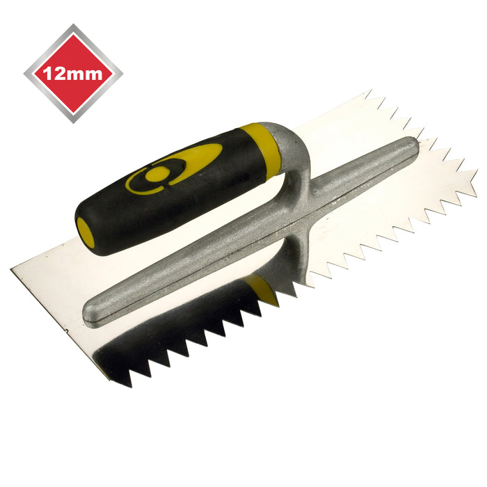 12mm V Notched Stainless Steel Trowel - VSS324