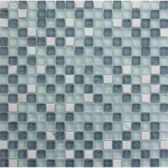 Pacific Mosaic Tiles - Ice Cube - 29.5cm x 29.5cm