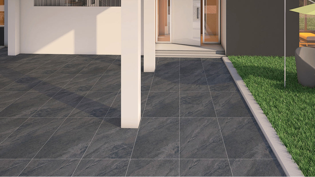 £59.99 /sqm - County Anthracite - Exterior Tile - 60cm x 90cm