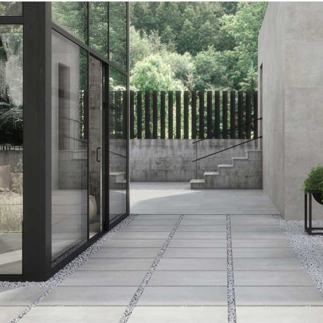Extend Sand - Outdoor Brushed Concrete Effect Tiles