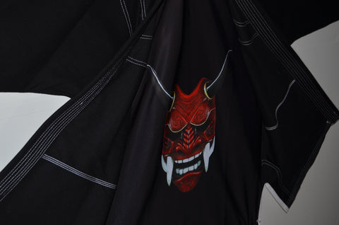 Black Samurai Embroidered Gi-Black Lettering