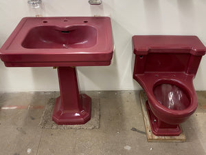 *Set* Am. Std. Tang Red Toilet & Sink (NW19-41)