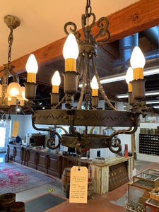 """Dragon's Head"" forged iron fixture + 2 pairs of wall sconces (SEP20-12)"