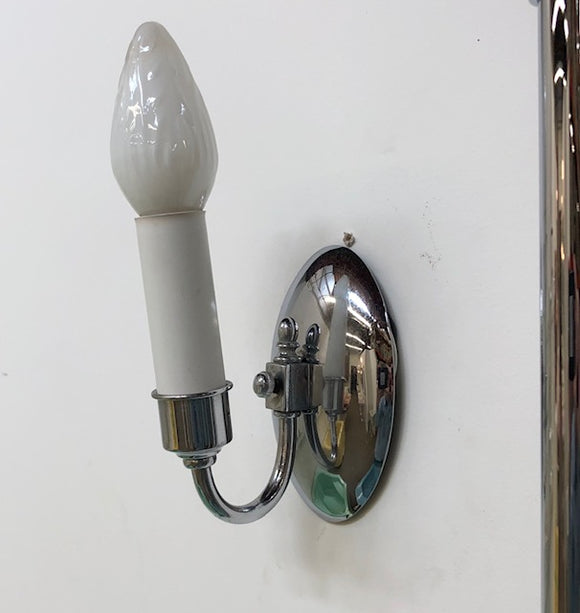 Classical Revival Chrome Sconces - Pair [OCT18-58]