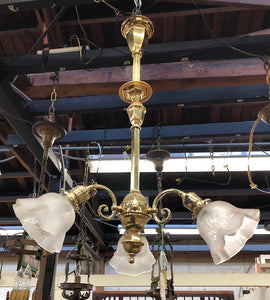 Victorian Chandelier with Original Shades [Z-JOCH4]