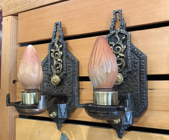 High Style Spanish/Deco Sconces [MAY19-9]