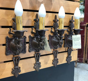 Spanish/Tudor Revival Sconces - Two (2) Pair available [jul18-82]
