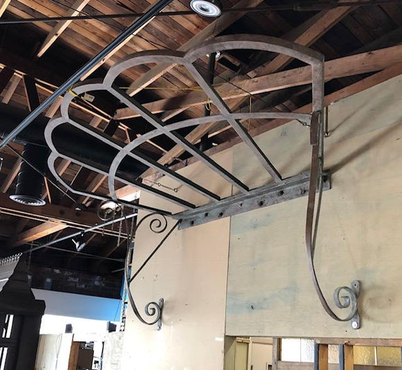 Art Noveau Wrought Iron Awning [JUN19-20]