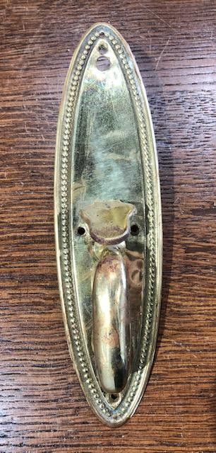 Stamped & Cast Brass Colonial Revival Thumblever [jul19-54]