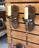 Pair of Tudor Revival Sconces [PRJUL19-32]