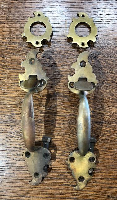 Cast Brass Spanish Colonial Thumblever Sets [jul19-76]