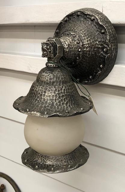Hammered Finish Spanish/Tudor Revival Porch Sconce [JUL18-86]