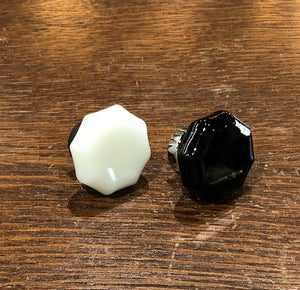 Medium Reproduction Milk Glass Cabinet Knobs