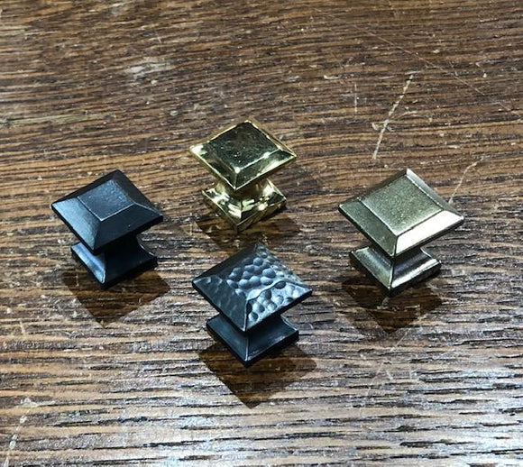 Small Reproduction Brass Rectangular Knobs