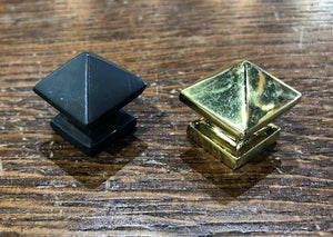 Small Reproduction Brass Pyramid Knobs