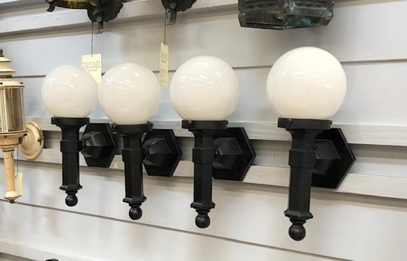 Neo-Classical Cast Iron Porch Sconces [sep19-2]