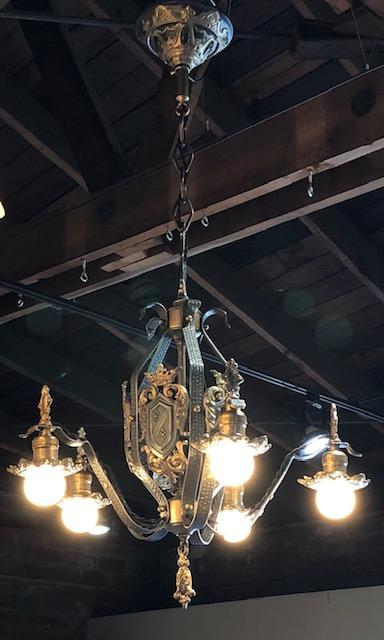 Spanish/Tudor Revival 5 Light Chandelier [SEP19-57]