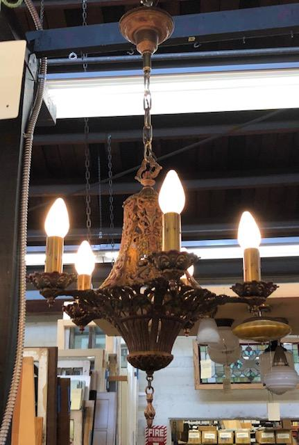 5 Light Polychrome Storybook Chandelier [sep19-59]