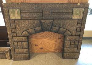 Cast Concrete Fireplace Surround & Mantel [NOV19-39]