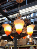 Art Deco Slip Shade Chandeliers-2 Available [PRNOV19-77]